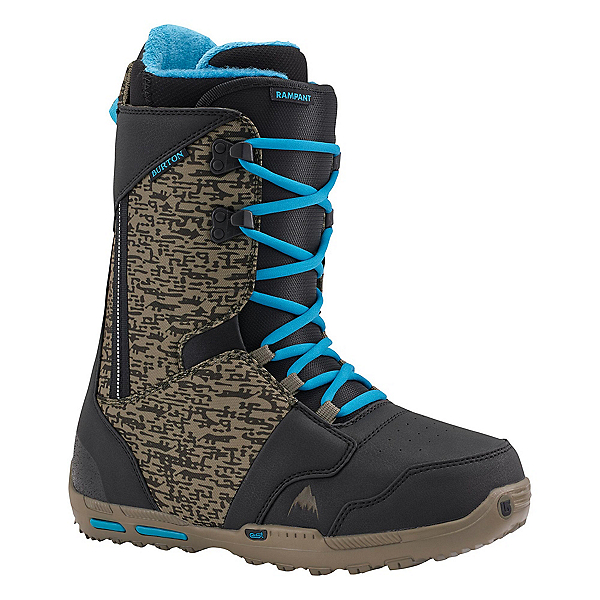 Burton Rampant Snowboard Boots, Black-Camo-Blue, 600