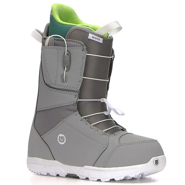 Burton Moto Asian Fit Snowboard Boots, Gray-White, 600