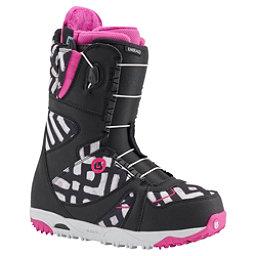Burton Emerald Asian Fit Womens Snowboard Boots, Black-Pink-Print, 256