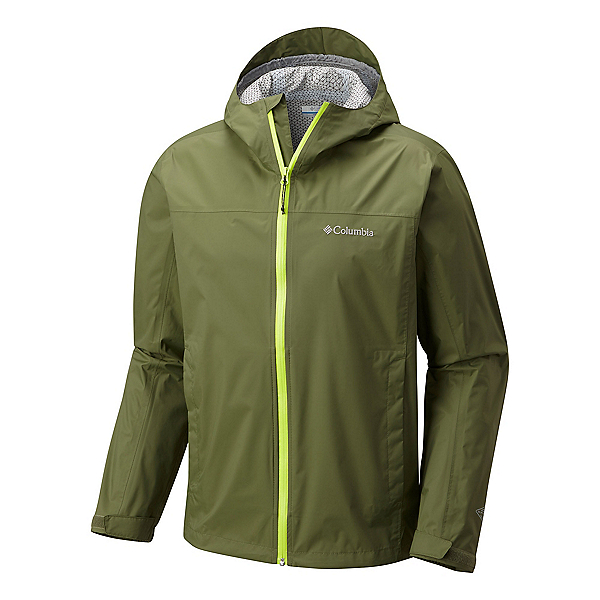 Columbia EvaPOURation Mens Jacket, Mosstone-Fission, 600