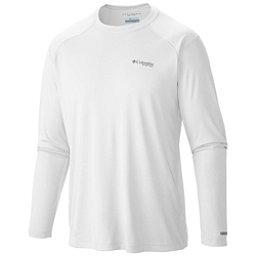 Columbia PFG Blood and Guts III Long Sleeve Knit Shirt, White, 256