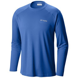 Columbia PFG Blood and Guts III Long Sleeve Knit Shirt, Vivid Blue, 256