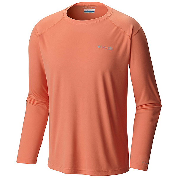 Columbia PFG Blood and Guts III Long Sleeve Knit Shirt, Bright Peach, 600