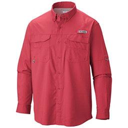 Columbia PFG Blood and Guts III Long Sleeve Woven Mens Shirt, Sunset Red, 256