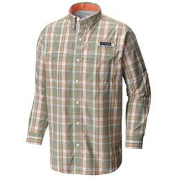 Columbia PFG Super Low Drag Long Sleeve Mens Shirt, Safari Multi Plaid, 256