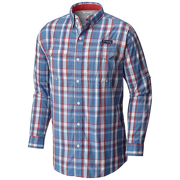 Columbia PFG Super Low Drag Long Sleeve Mens Shirt, Skyler Multi Plaid, 600