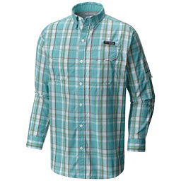 Columbia PFG Super Low Drag Long Sleeve Mens Shirt, Moxie Multi Plaid, 256