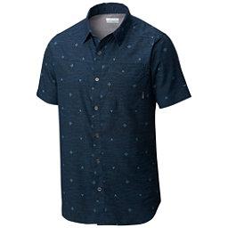 Columbia Pilsner Peak Short Sleeve Mens Shirt, Zinc Compass Print, 256
