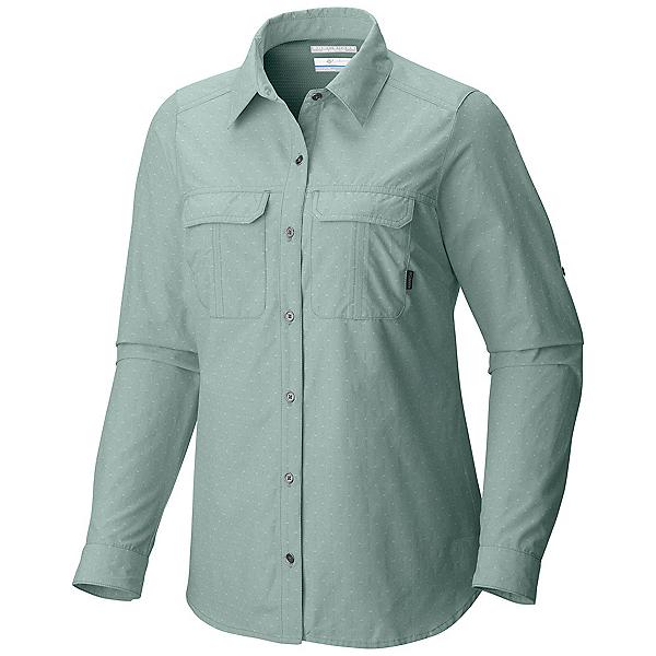 Columbia Pilsner Peak Long Sleeve Womens Shirt, Dusty Green Dobby, 600