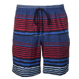 Columbia Lakeside Leisure Mens Hybrid Shorts, Stormy Blue Stripe, 256