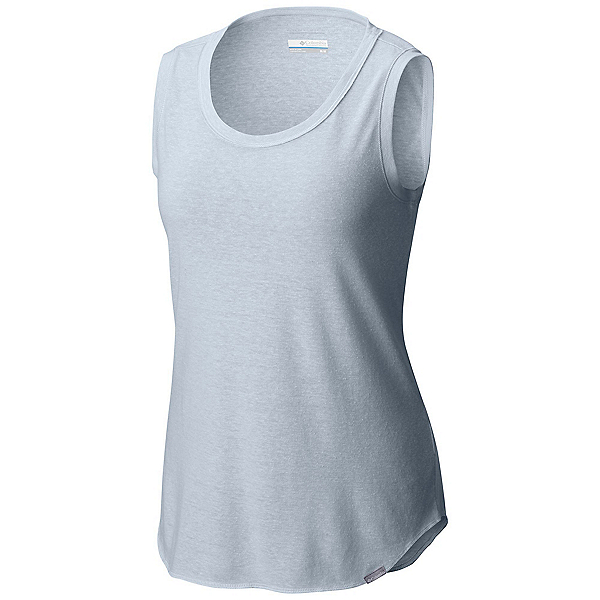 Columbia Trail Shaker Womens Tank Top, Cirrus Grey Heather, 600