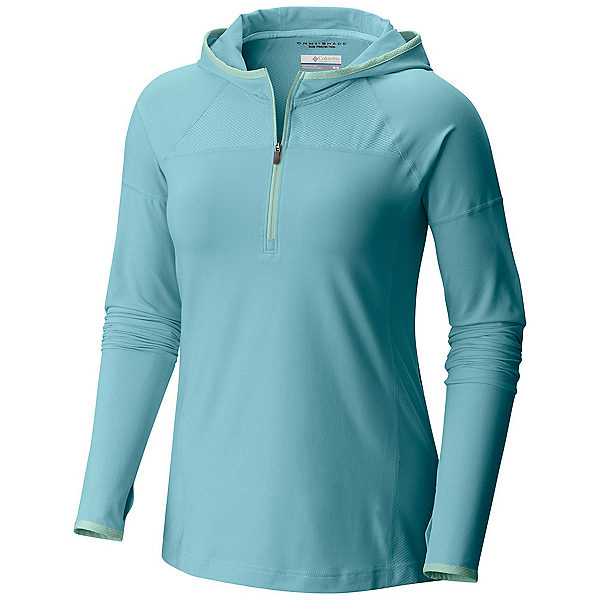 Columbia PFG Solar Ridge Womens Hoodie, Iceberg-Sea Ice, 600