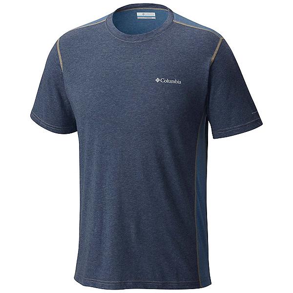 Columbia Silver Ridge Short Sleeve Mens T-Shirt, Zinc Heather-Steel-British Tan, 600