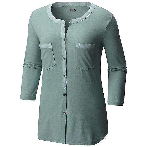 Columbia Vista Hills Henley Womens Shirt, Dusty Green, 600