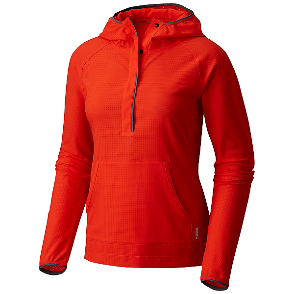 Mountain Hardwear MHW AC Long Sleeve Womens Hoodie, Fiery Red, 600