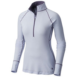 Mountain Hardwear Butterlicious Long Sleeve Half Zip Womens Shirt, Atmosfear, 256