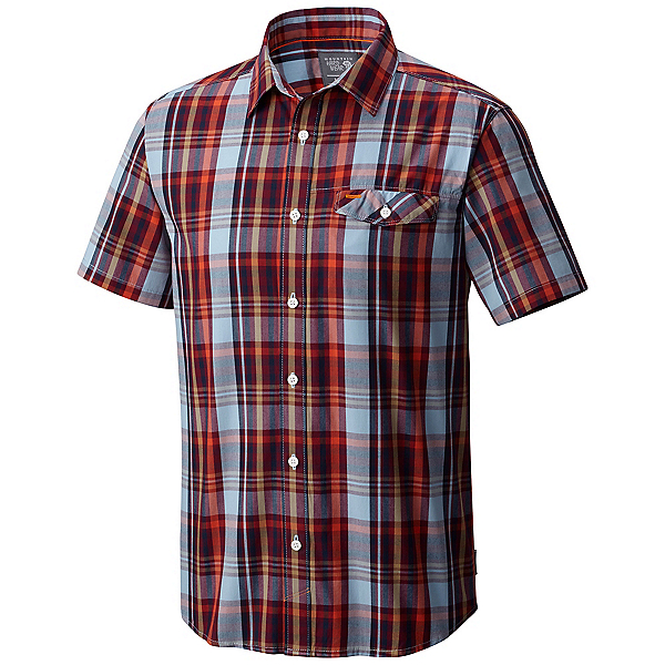 Mountain Hardwear Farthing Short Sleeve Mens Shirt, Cote Du Rhone, 600