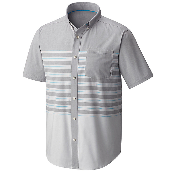 Mountain Hardwear Axton AC Short Sleeve Mens Shirt, Manta Grey, 600