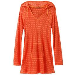 Prana Luiza Tunic Bathing Suit Cover Up, Electric Orange, 256