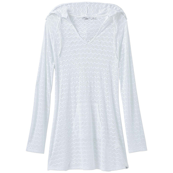 Prana Luiza Tunic Bathing Suit Cover Up, White Chevron, 600