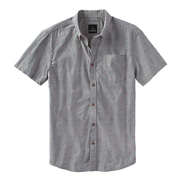 Prana Broderick Standard Mens Shirt, Gravel, 600