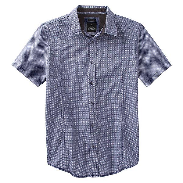 Prana Lukas Slim Short Sleeve Mens Shirt, Indigo, 600