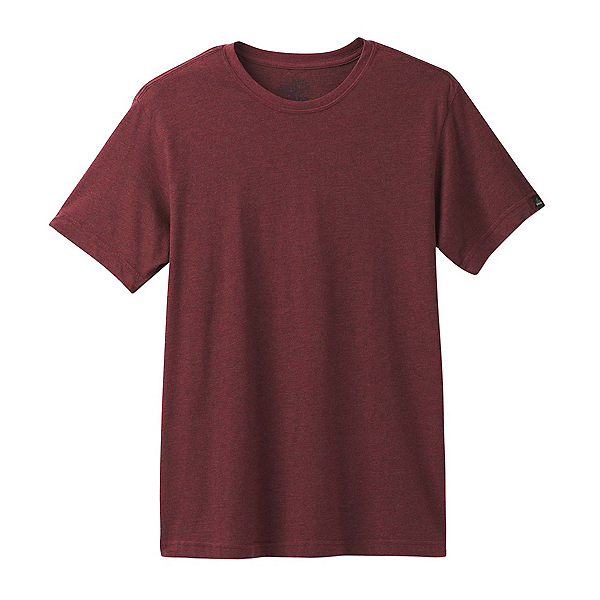 Prana Crew Mens T-Shirt, Raisin, 600
