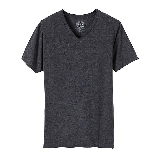 Prana V-Neck Mens T-Shirt, Charcoal, 600