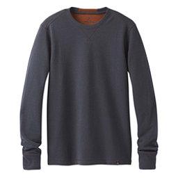 Prana Wes Long Sleeve Crew Mens Sweatshirt, Coal, 256