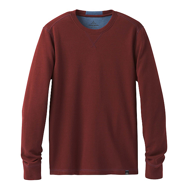 Prana Wes Long Sleeve Crew Mens Sweatshirt, , 600