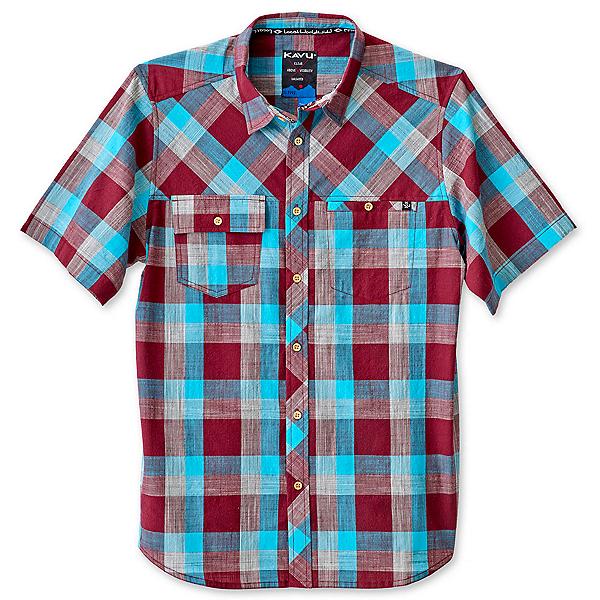KAVU Pemberton Mens Shirt, Burgundy, 600