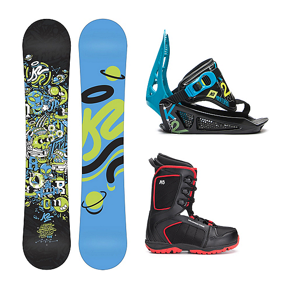 K2 Mini Turbo Militia 4 Kids Complete Snowboard Package, , 600