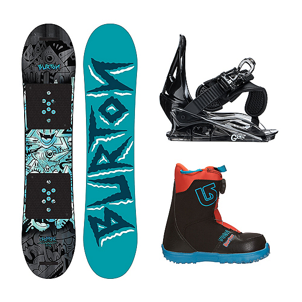 Burton Chopper 2 Grom Boa Kids Complete Snowboard Package, , 600
