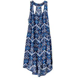 KAVU Jocelyn Dress, Blue Ikat, 256