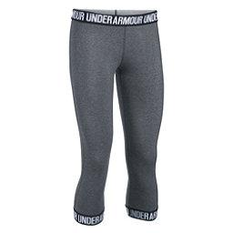 Under Armour Favorite Capri Womens Pants, Carbon Heather-Black-Metallic, 256