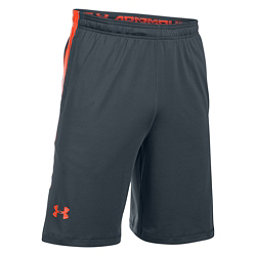 Under Armour Raid Mens Shorts, Stealth Gray-Phoenix Fire, 256