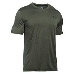 Under Armour Tech V-Neck Mens T-Shirt, Downtown Green-Black, 256