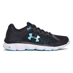Under Armour Micro G Assert 6 Womens Athletic Shoes, Black-White-Venetian Blue, 256