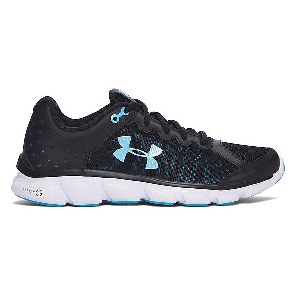 Under Armour Micro G Assert 6 Womens Athletic Shoes, Black-White-Venetian Blue, 600