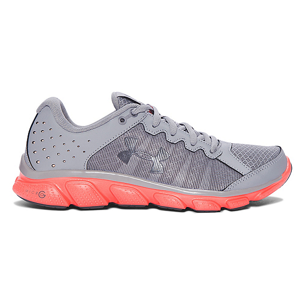 Under Armour Micro G Assert 6 Womens Athletic Shoes, Steel-London Orange-Rhino Gray, 600