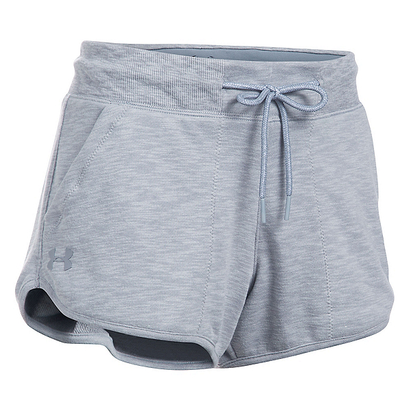 Under Armour Ocean Shoreline Womens Shorts, True Gray Heather-Black, 600