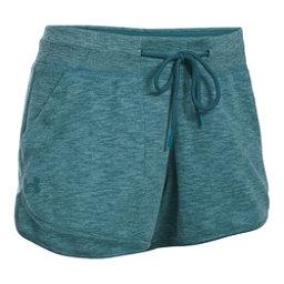 Under Armour Ocean Shoreline Womens Shorts, Marlin Blue-Absinthe Green, 256
