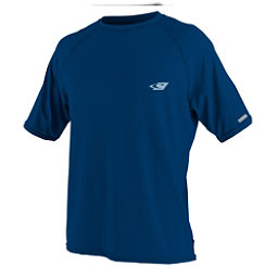 O'Neill 24-7 Tech Short Sleeve Crew Mens Rash Guard, Deep Sea, 256