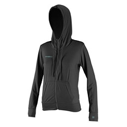 O'Neill 24-7 Hybrid Zip Hoodie Womens Rash Guard, Graphite, 256