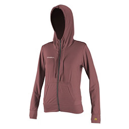 O'Neill 24-7 Hybrid Zip Hoodie Womens Rash Guard, Mesa Rose, 256