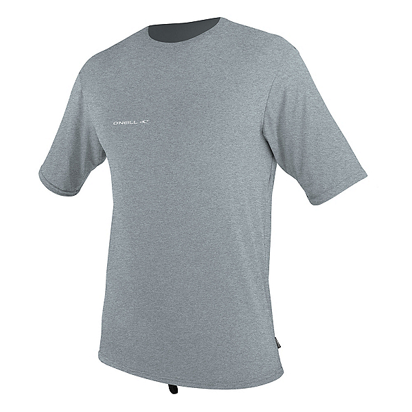 O'Neill Hybrid Short Sleeve Sun Shirt Mens Rash Guard 2020, Cool Grey, 600