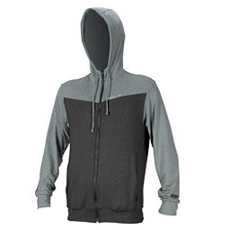 O'Neill Hybrid Zip Hoody Mens Rash Guard, Graphite-Cool Grey, 256