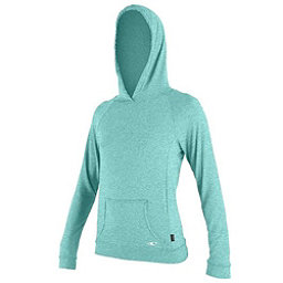 O'Neill Hybrid Long Sleeve Hoody Womens Rash Guard, Seaglass, 256