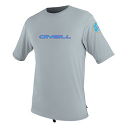 O'Neill Skins Graphic Short Sleeve Mens Rash Guard, Cool Grey, 256