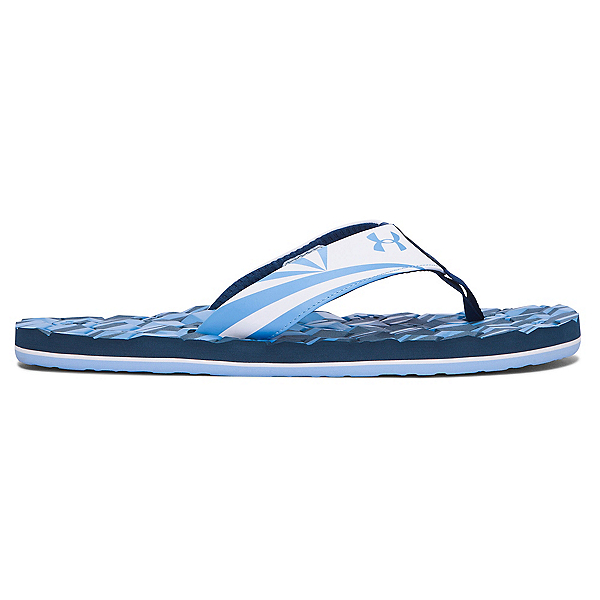 Under Armour Marathon Key II Mens Flip Flops, Blackout Navy-White-Carolina B, 600